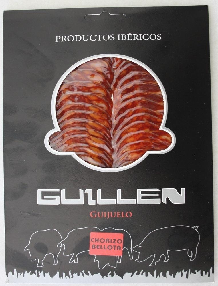 Loncheado Chorizo Ibérico Bellota - Peso aproximado: 100 g.