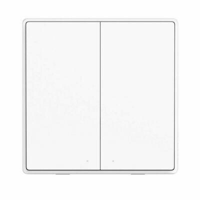 Беспроводной выключатель Aqara Wall Wireless Switch Double Key D1 (двойной, белый) (WXKG07LM)