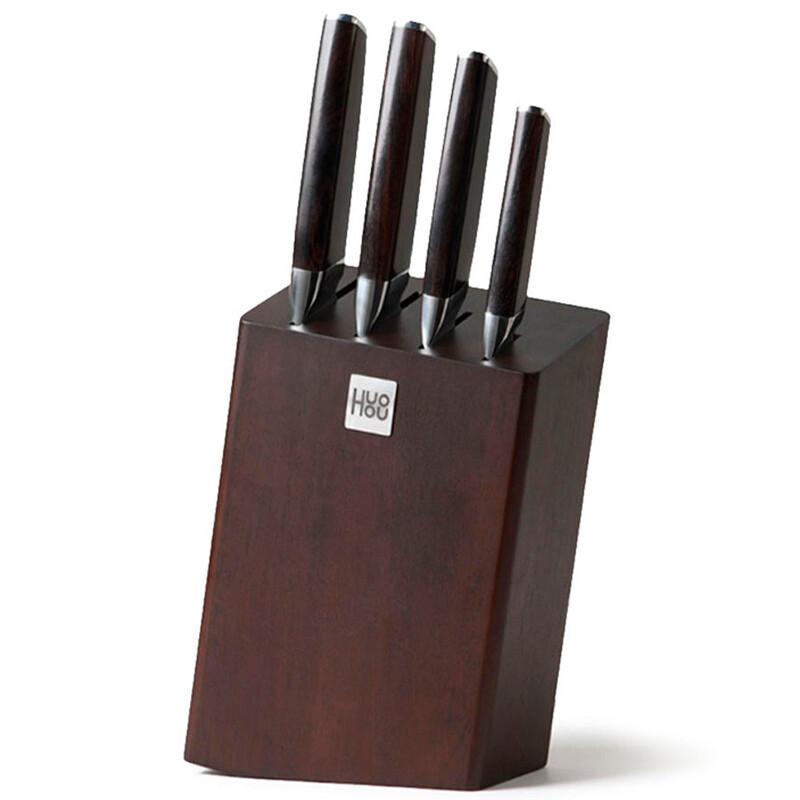 Набор ножей Xiaomi Huo Hou Fire Kitchen Steel Knife Set с подставкой (5 предметов)