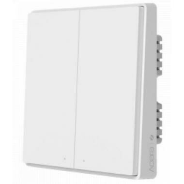Настенный выключатель Aqara Wall Light Switch Double Key Edition (Встраиваемый, двойной, c нулевой линией) (QBKG22LM)