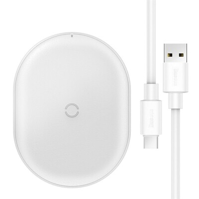 Беспроводное зарядное устройство Baseus Jelly Wireless Charger 15W White (WXGD-02)