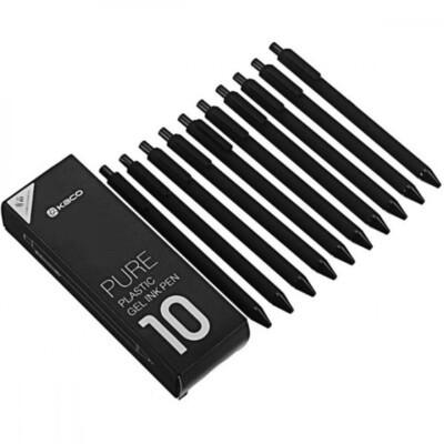 Набор гелевых ручек KACO Pure Pen (10шт/Черные)