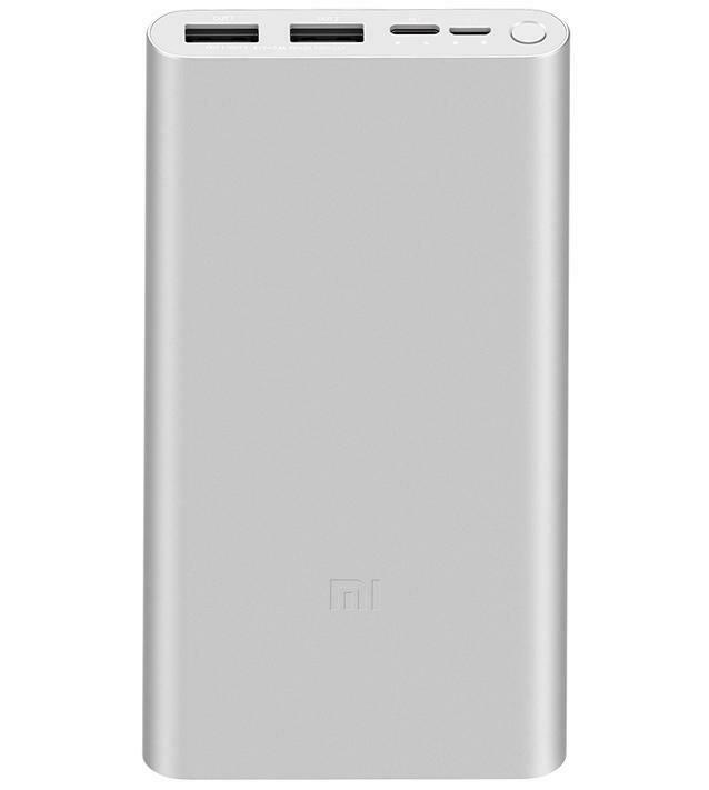 Внешний аккумулятор Xiaomi Mi Power Bank 3 (10000 mAh, Cеребристый)