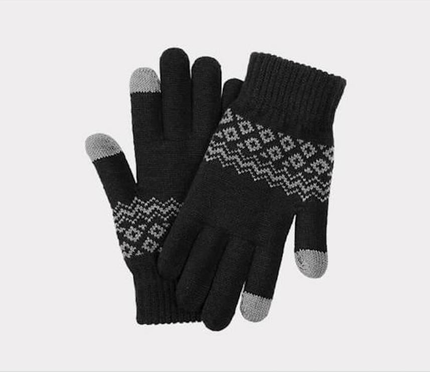 Перчатки для сенсорных экранов FO Touch Wool Gloves 160/80 (Черный)