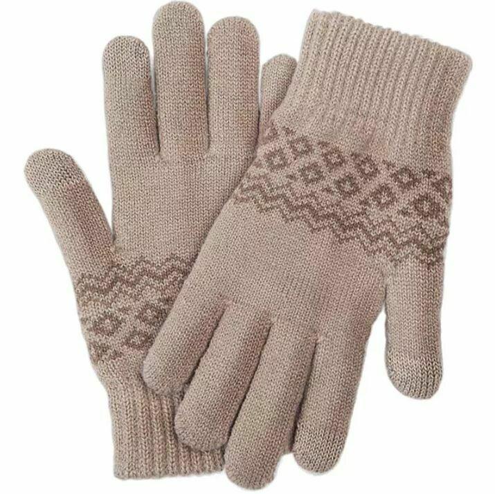 Перчатки Xiaomi для сенсорных экранов FO Touch Wool Gloves 160/80 (Бежевые)