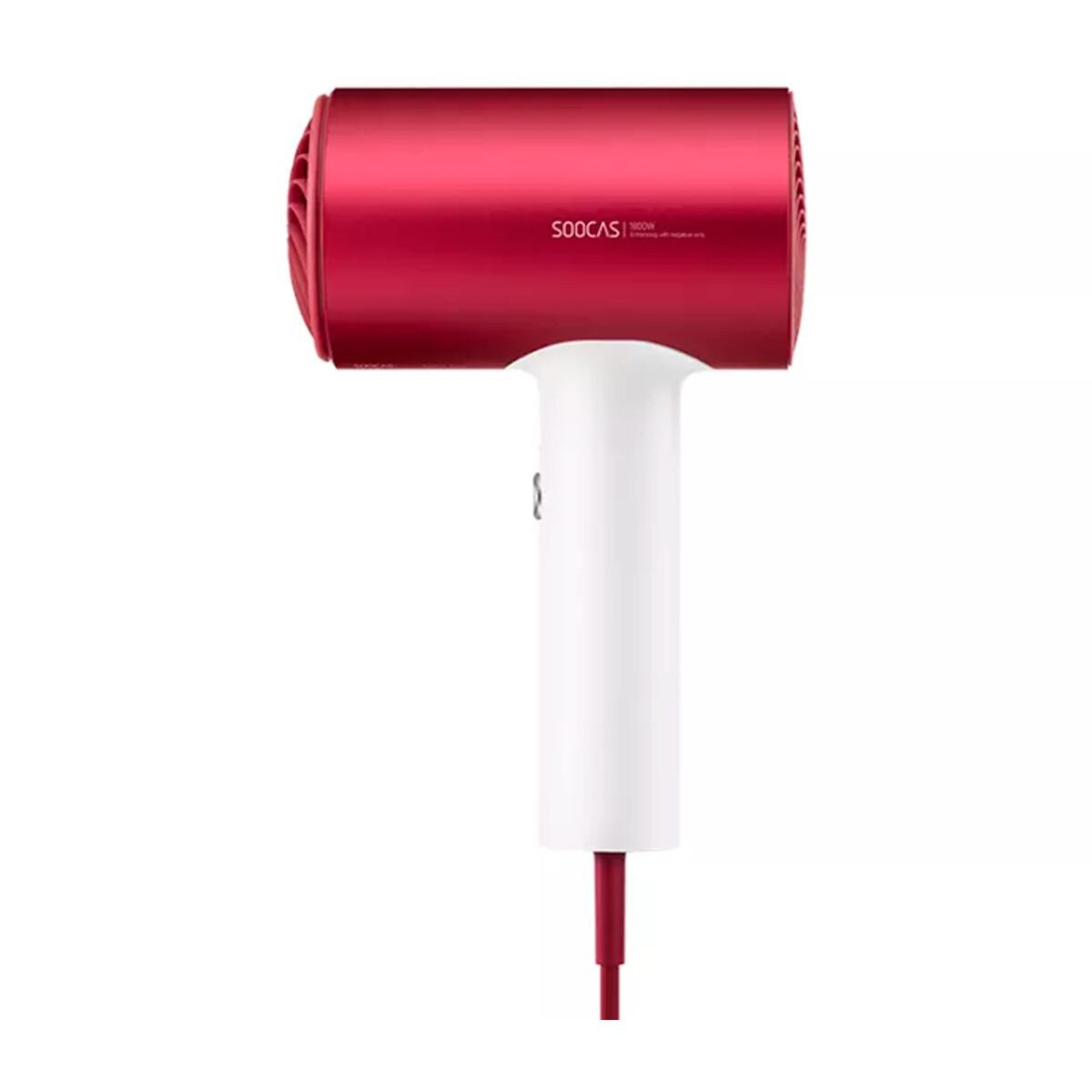 Фен для волос Soocas Hair Dryer H5 (H5-T) с диффузором (Красный)