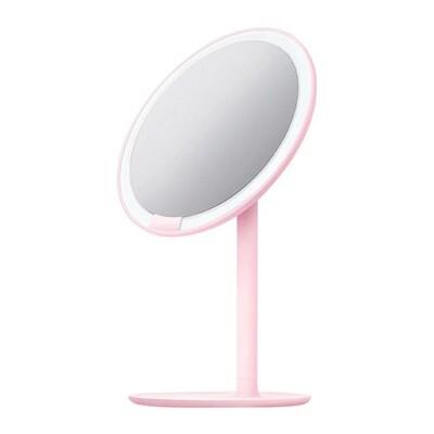 Зеркало косметическое настольное Xiaomi Amiro Lux High Color (AML004D) с подсветкой Розовый