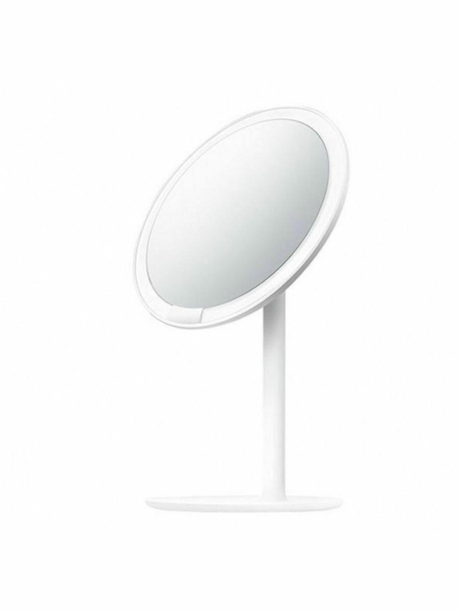 Зеркало косметическое настольное Xiaomi Amiro Lux High Color (AML004D) с подсветкой Белый