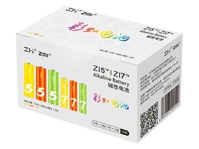 Батарейки ZMI Zi5/ZI7 AA/AAA Rainbow Colors (24 шт.)