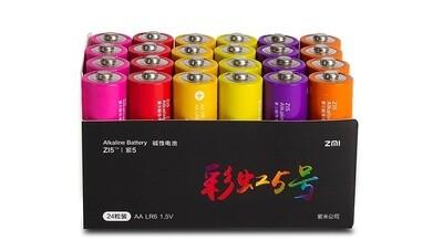 Батарейки ZMI Zi5-AA Rainbow Colors (24 шт.)