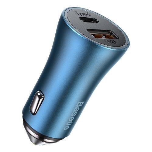 Автомобильное зарядное устройство Baseus Golden Pro Dual Quick Charger 40W CCJD-03 Blue