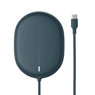 Беспроводное зарядное устройство Baseus Light Magnetic Wireless Charger Blue (WXQJ-03)