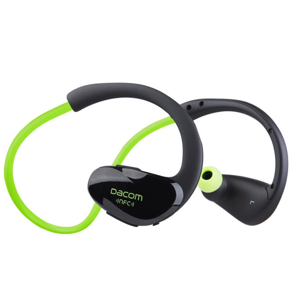 Наушники беспроводные DACOM Athlete NFC (G005) (Зеленый)