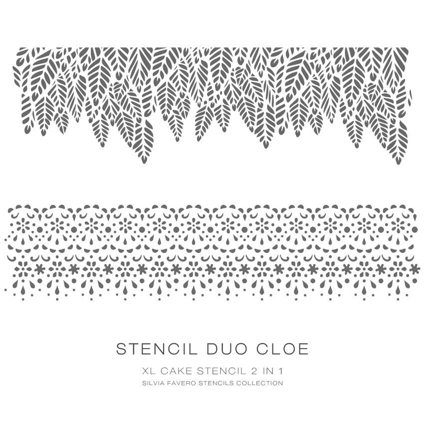 Stencil Duo Cloe 2 en 1