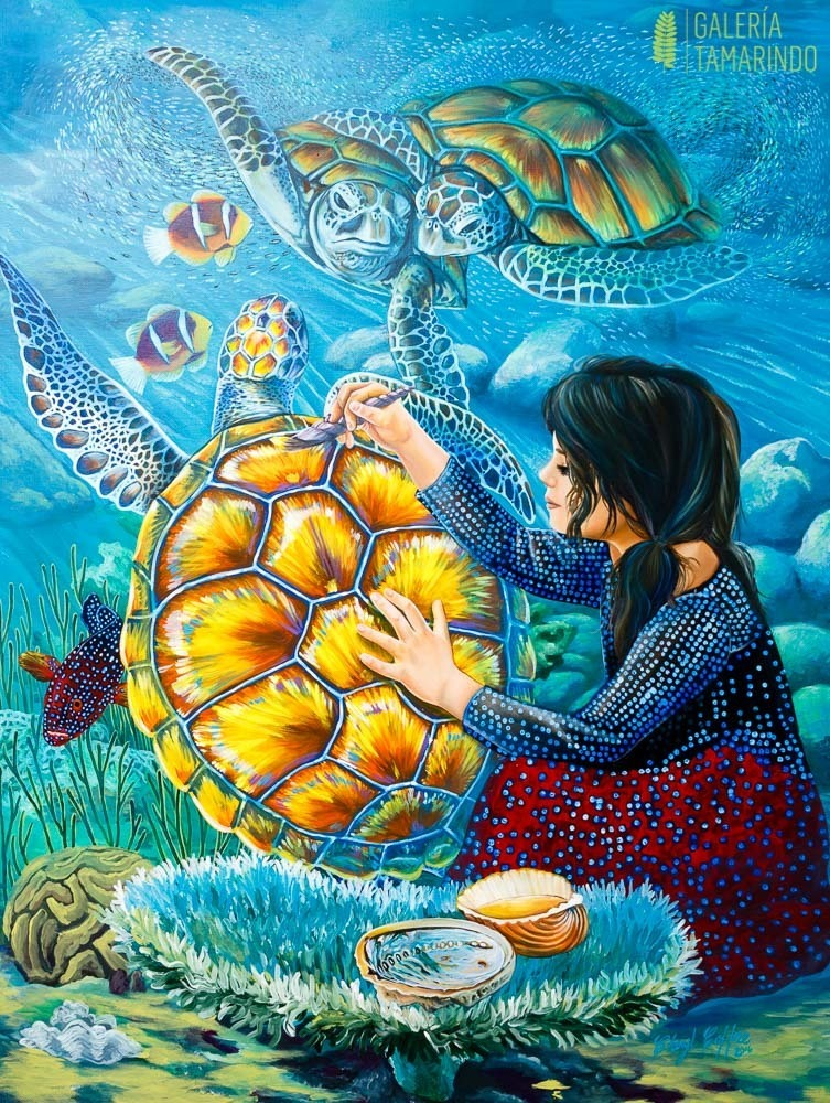 Cheryl Coffre - Pintando la tortuga