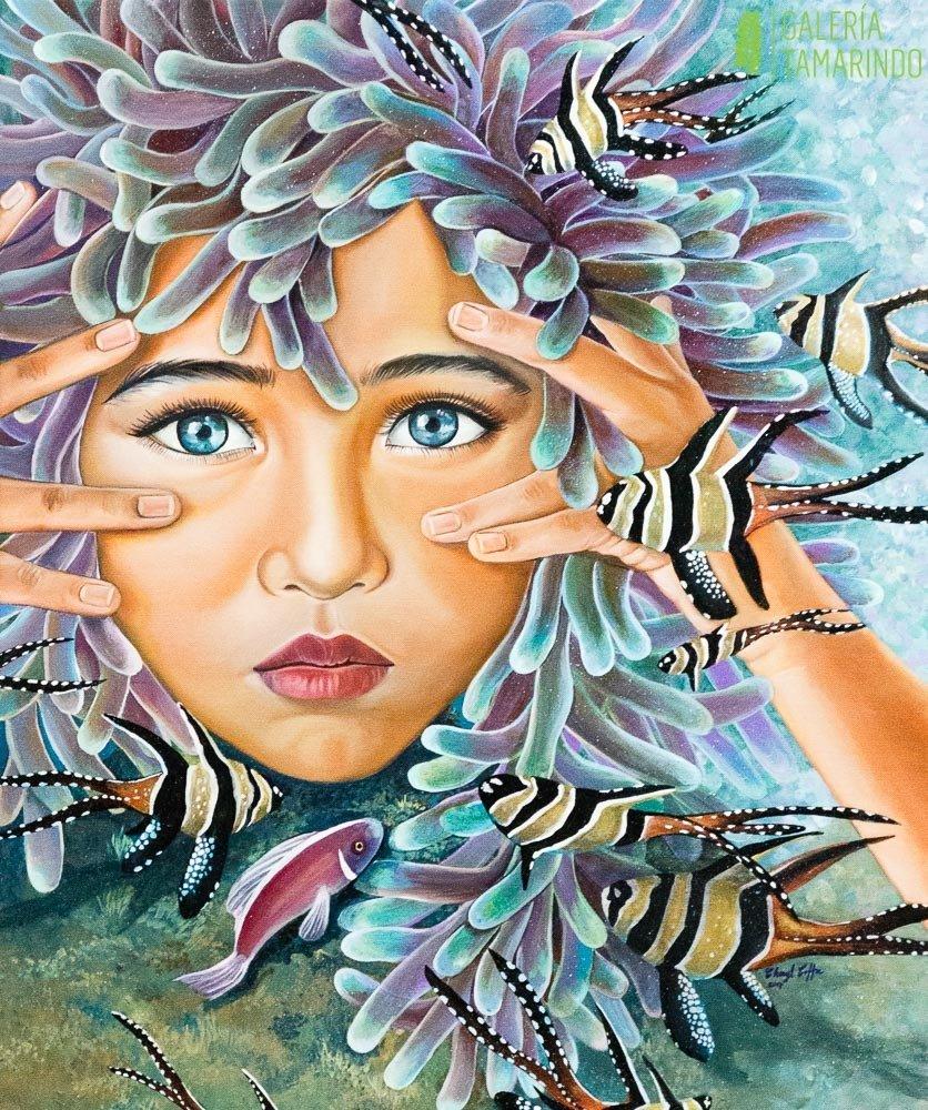 Cheryl Coffre - Anemonas y peces