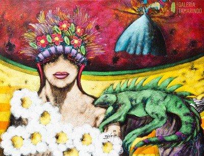 Gustavo Didacio - Musa con flores