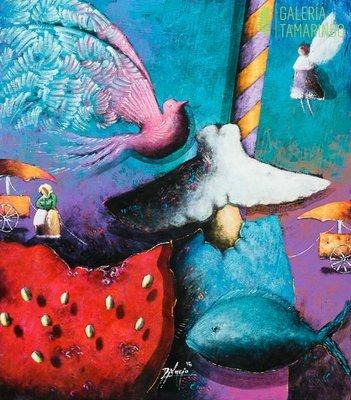Gustavo Didacio - Gigante con Ave Mistica