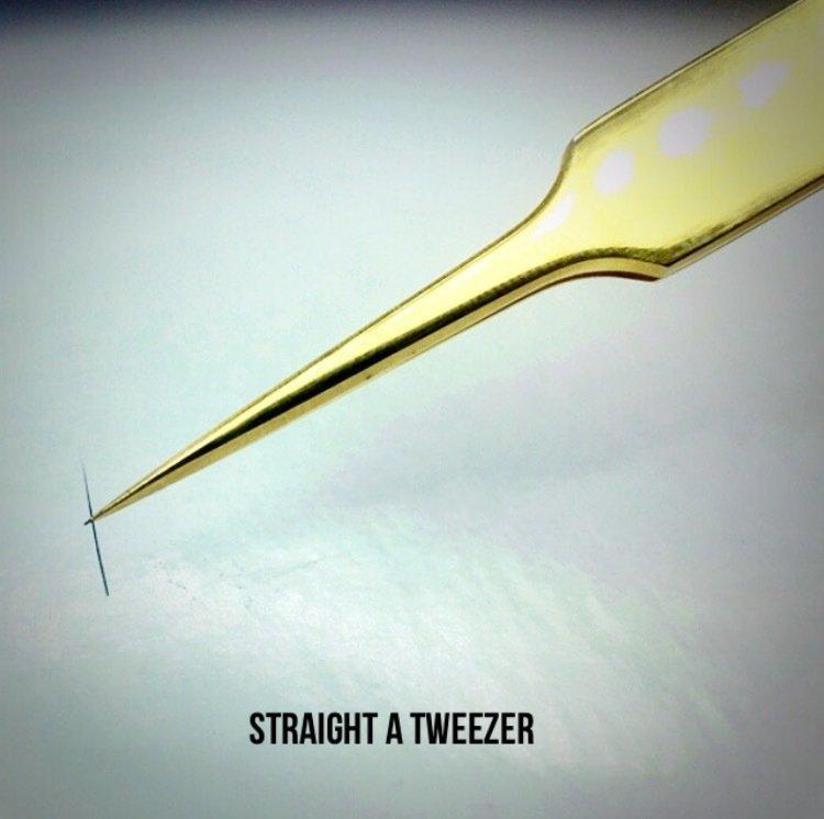 Gold Straight Tweezer