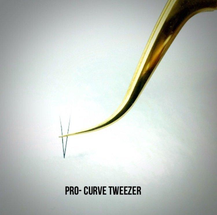 Gold Pro-curve Tweezer