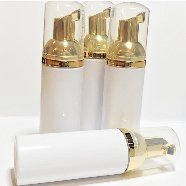 Gold White Foam Bottles