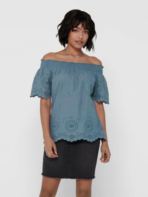 Bluse med off shoulder fra Only