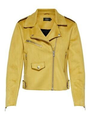 Biker jakke i imiteret skind fra Only
