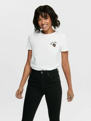 T-Shirt med print fra Only