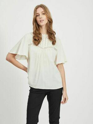Skjorte med flæse detaljer fra Vila