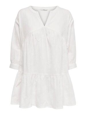 Fin kjole/tunic med blonde detaljer fra Only