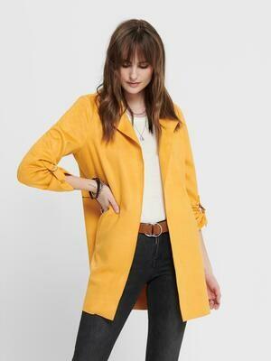 Blazer jakke i imiteret ruskind fra Only