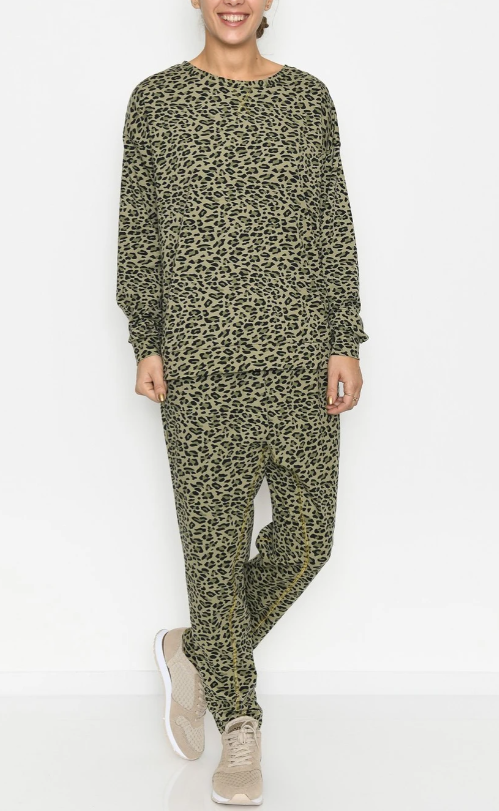Sweatshirt med leoprint fra Culture