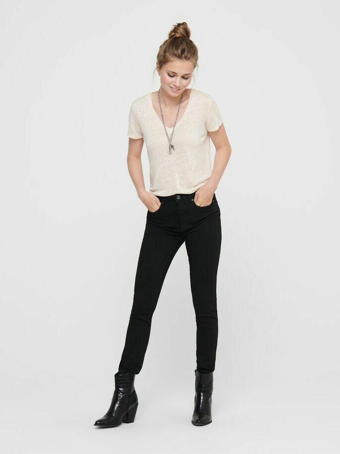 Forever black denim jeans fra Only