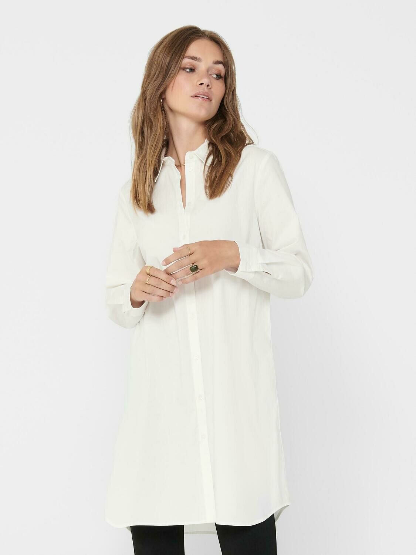 Lang oversized skjorte fra Only