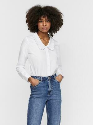Skjorte med flæse krave fra Vero Moda