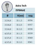 Мультиюниты прямые ASTRA TECH с винтом диаметры: 3,5/4,0 мм; 4,5/5,0 мм шейки: 1,5 мм; 2,5 мм; 3,5 мм