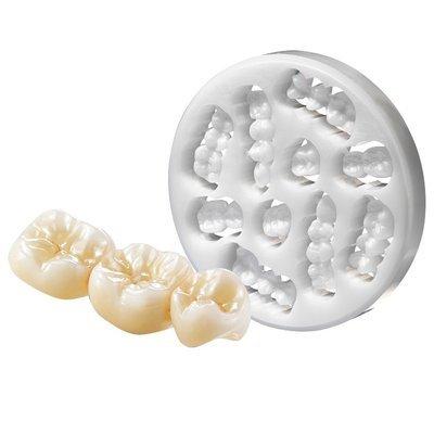 Диски диоксида циркония 95 мм белого цвета полупрозрачные TZ