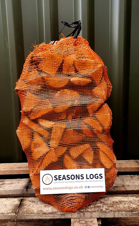Jumbo Net of Thin Cut Kiln Dried Hardwood Logs