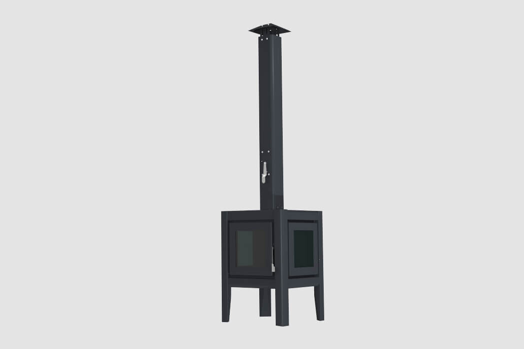 Lbode Cube Black Outdoor Stove