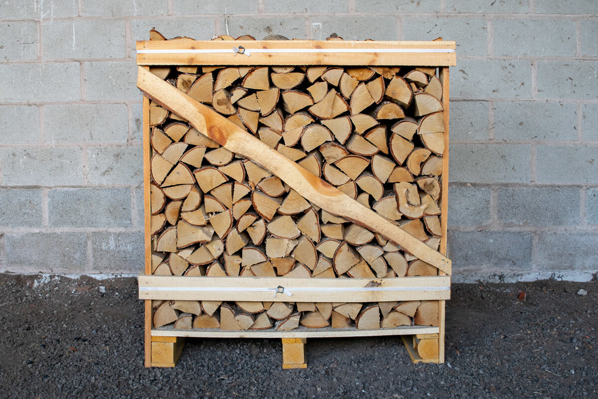 Standard Crate of Kiln Dried Birch and Oak Logs