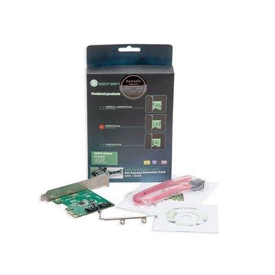 IO Crest 2-port SATA III PCIe 2.0 x2 Controller Card Green, SY-PEX40039