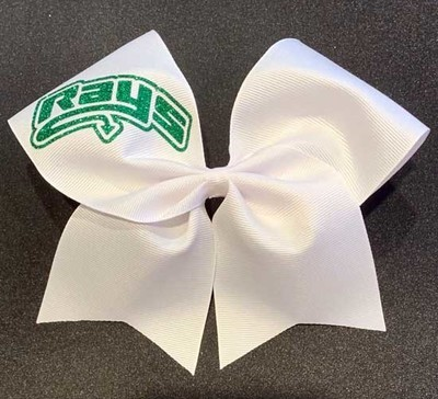 Big White Bow with Green Rays