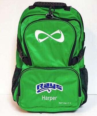 Green Backpack w/Rays Logo