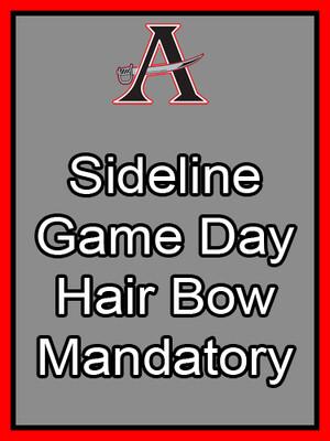 Sideline Game Day Bow Mandatory