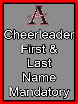 Cheerleader First & Last Name Mandatory