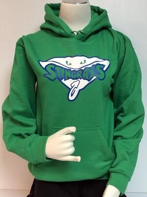 Stingrays Green Hoodie