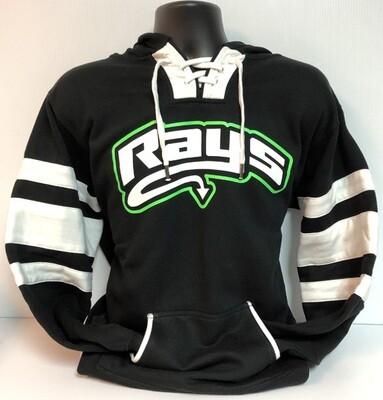 Rays BLACK Hockey Hoodie