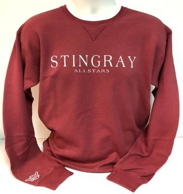 Stingrays Comfort Wash CRIMSON Sweatshirt