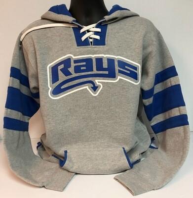 Rays GRAY Hockey Hoodie