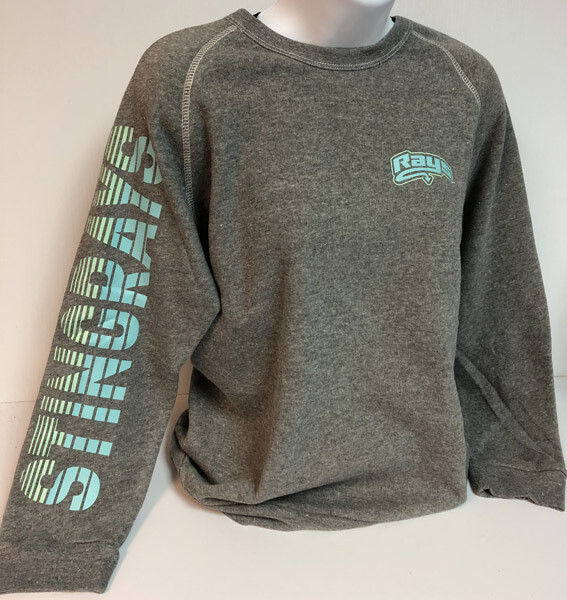 Stingrays GRAY Stripe Sleeve Crewneck Sweatshirt